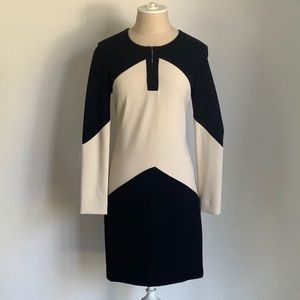 DIANE von FURSTENBURG long sleeve body con dress